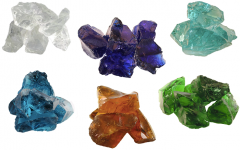 Glasbrokken 6 kleuren