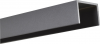 Alu U-Afdekprofiel 1 meter lang gepoedercoat steengrijs