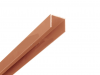 Alu U-Profil 2 meter Lang gepoedercoat bruin