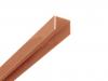 Alu U-Afdekprofiel 1,50 meter lang gepoedercoat bruin