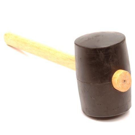 Rubber hamer, 1250 gram, rond