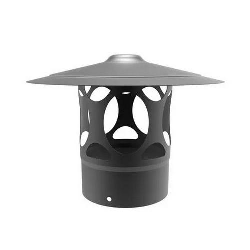 Emaille regenkap zwart diameter 150 mm