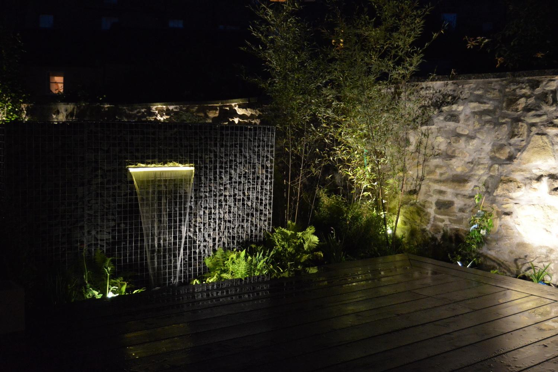 Waterval LED ingebouwd in schanskorven